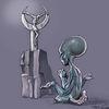 Religion, Alien, Altar, Zeichnungen