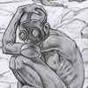 Bleistiftzeichnung, Zeichnung, Gasmaske, Zeichnungen