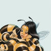 Anthropomorph, Hummel, Insekten, Illustrationen