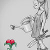 Bleistiftzeichnung, Liebe, Zeichnung, Zeichnungen