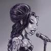 Amy, Winehouse, Karikatur, Zeichnungen