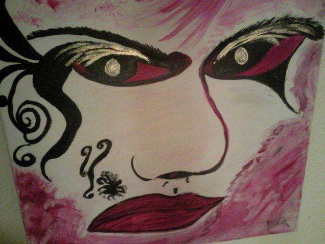 Pinsel, Aufgetragen, Acrylmalerei, Malerei, Gesicht