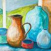 Vase, Haushaltsgegenstände, Gegenständlich, Acrylmalerei