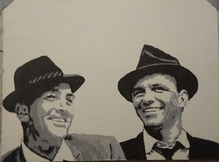 Ratpack, Frank sinatra, Dean martin, Malerei
