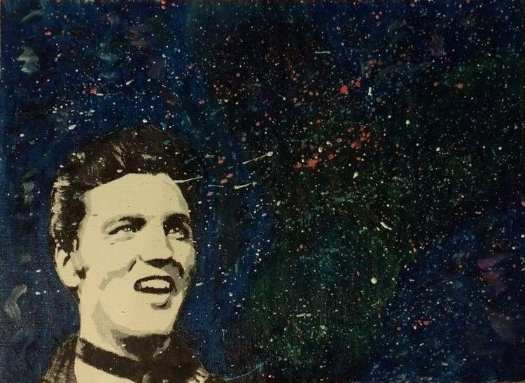 Portrait, Elvis presley, Ölmalerei, Malerei, Elvis