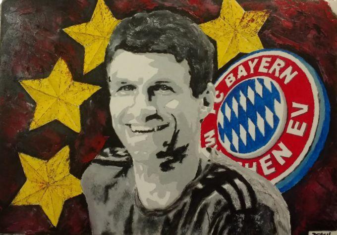 Fußball, Fc bayern, Malerei,