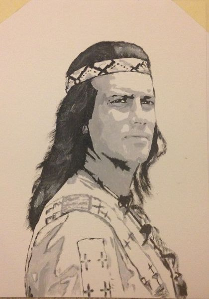 Winnetou, Pierre, Brice, Malerei, Portrait