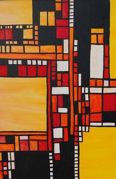 Verkehr, Licht, Stadt, Malerei