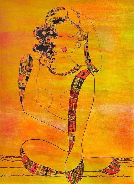 Sehnsucht, Zufriedenheit, Ruhe, Malerei, Glück
