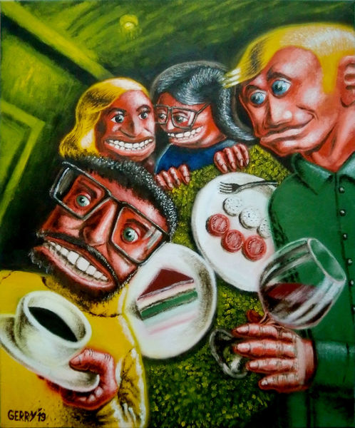Satire, Karikatur, Gesellschaft, Comic, Malerei, Cartoon