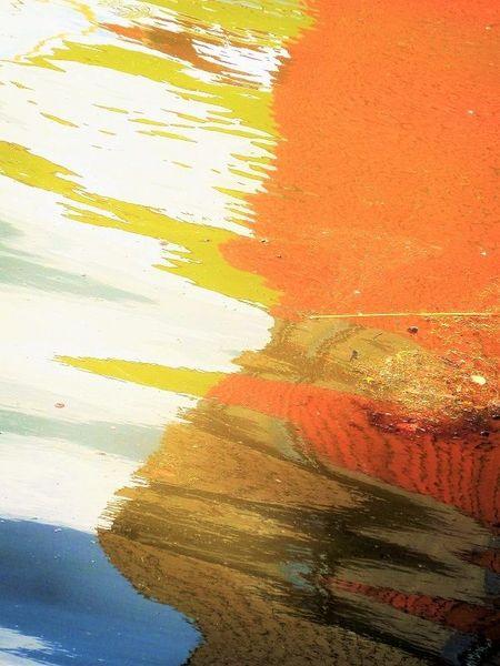 Spiegelung, Farben, Verzerrung, Wasser, Formen, Fotografie