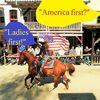 Pullman city, Eingefügte sprechblasen, Pferde, America first