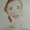 Portrait, Gesicht, Menschen, Aquarellmalerei