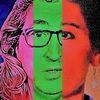 Politische farbenlehre, Mann, Gesicht, Menschen