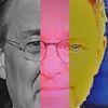 Politische farbenlehre, Mann, Gesicht, Synthese