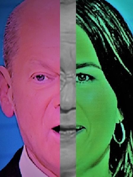 Frau, Synthese, Umfrage, Portrait, Polititische farbenlehre, Menschen