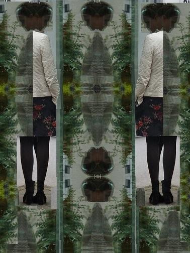 Wandlung, Portrait, Verwandlung, Spiegelung, Menschen, Schaufenster