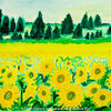 Arizona, Sonnenblumen, Aquarellmalerei, Landschaft