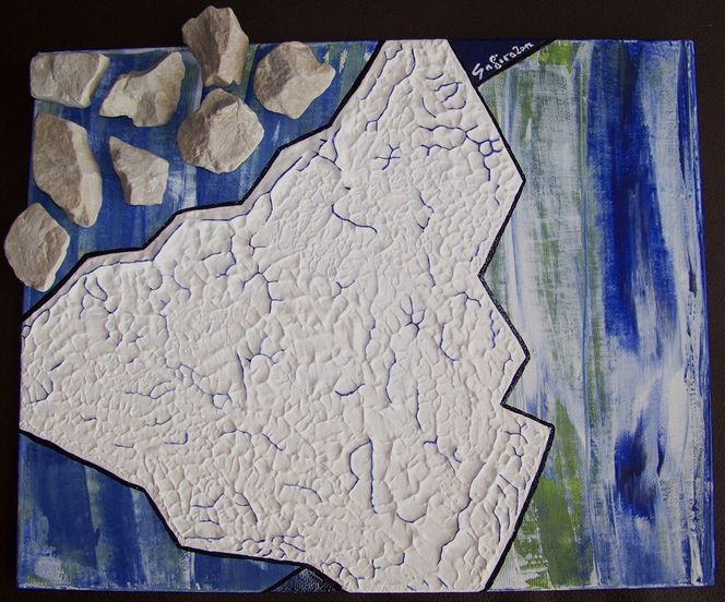 Acrylgemäle, Berge, Acryl auf leinwand, Acrylmalerei, Natur, Malerei
