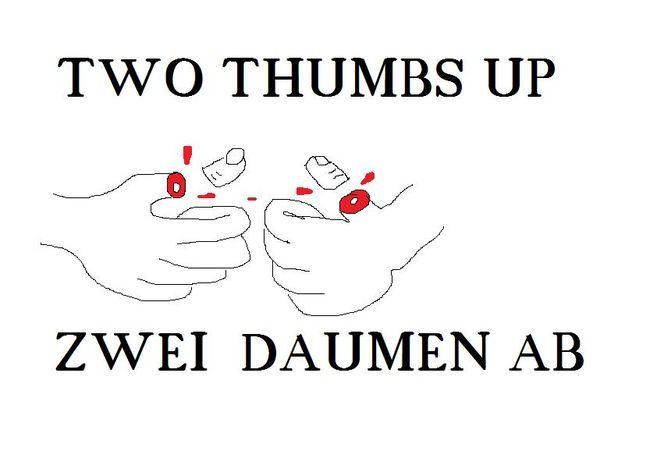 Daumen, Hoc, Thumbs, Oben, Malerei
