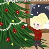 Schnee, Lichterkette, Weihnachtsbaum, Digitale kunst