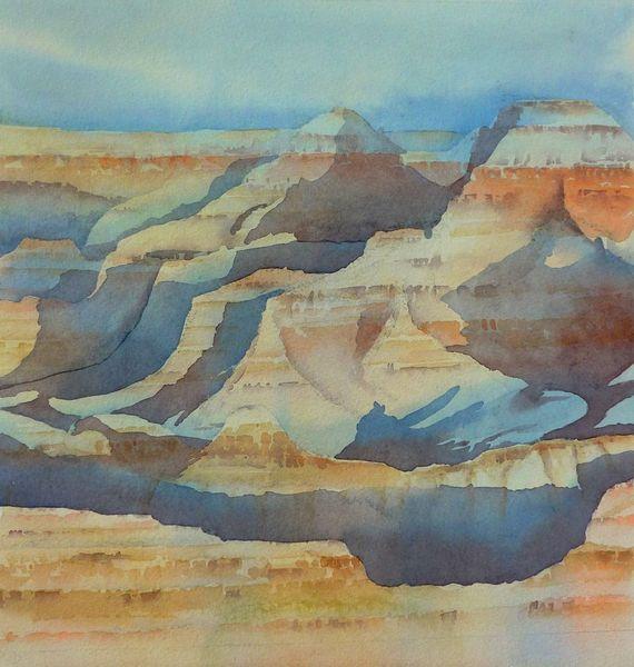 Aquarellmalerei, Grand canyon, Colorado, Landschaft, Usa, Nationalpark