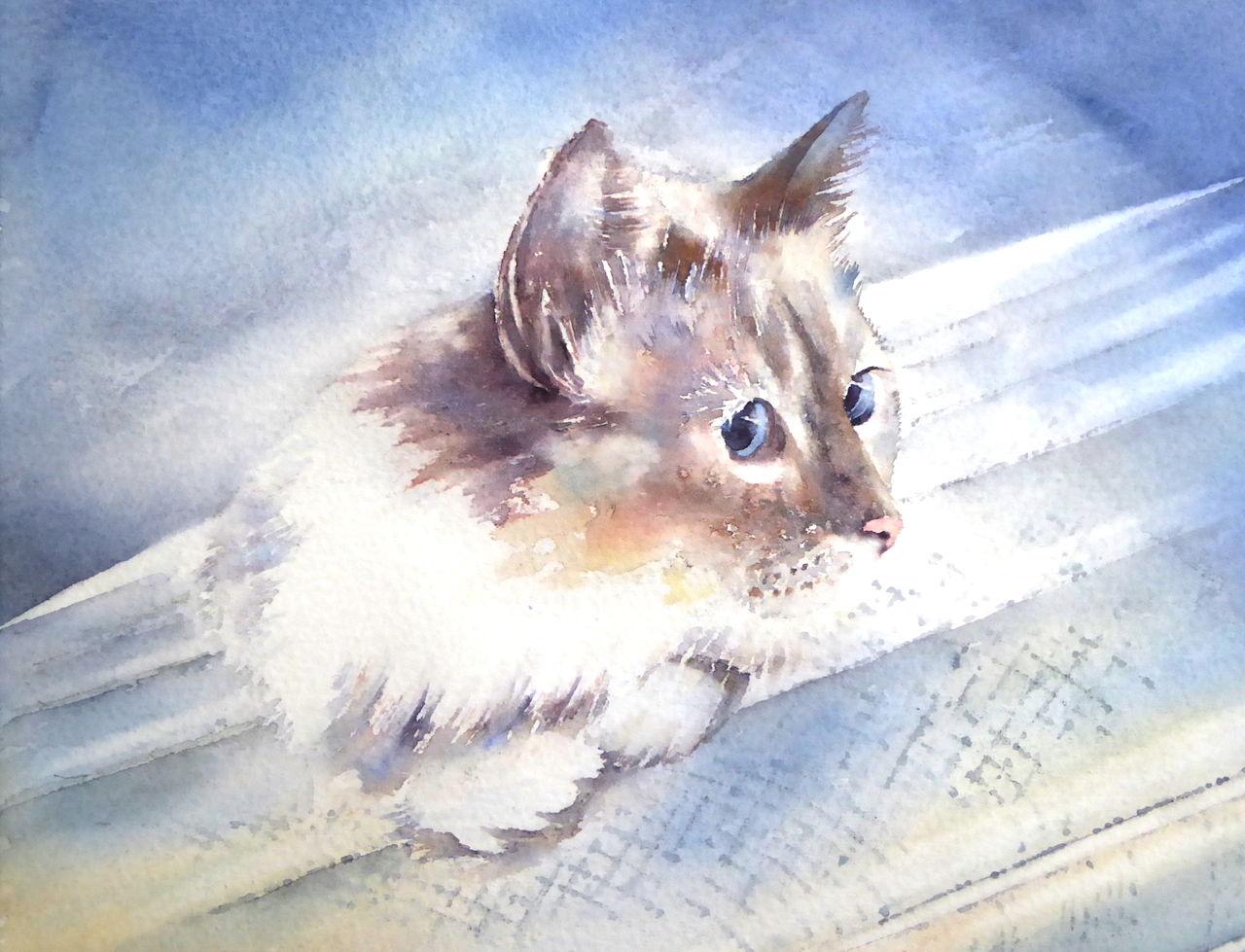 Weinlesegoldtone Sterlingsilber Kitty Katze Katzen