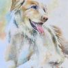 Aquarellmalerei, Souldog, Tiere, Hund