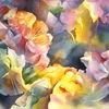 Aquarellmalerei, Hortensien, Blumen, Aquarell