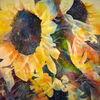 Gelb, Sonnenblumen, Aquarellmalerei, Aquarell