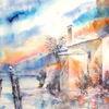 San vigilio, Italien, Aquarellmalerei, Gardasee