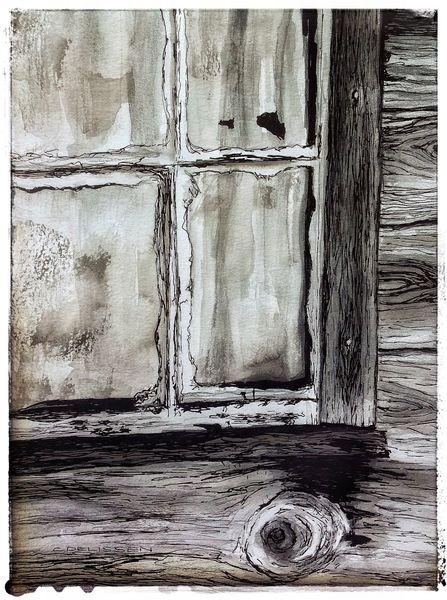 Haus, Holz, Fenster, Alt, Zeichnungen