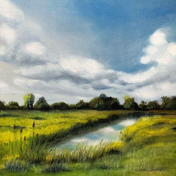 Niederrhein, Ölmalerei, Landschaft, Malerei