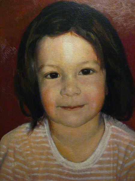 Kind, Portrait, Mädchen, Malerei