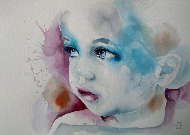 Portrait, Kinderportrait, Malerei, Menschen,