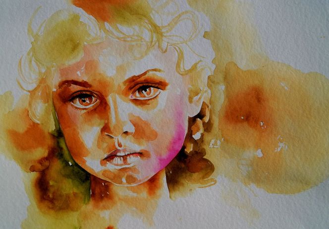 Portrait, Portrait in aquarell, Best of watercolor, Gesicht, Aquarell