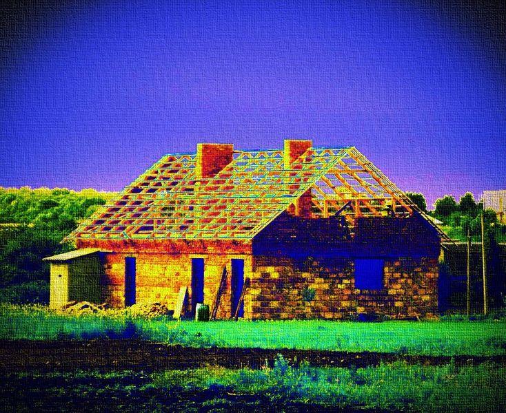 Haus, Dorfhaus, Digitale kunst