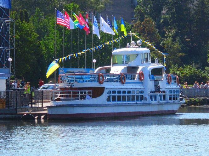 Ukraine, Motorschiff, See, Ternopil, Fotografie, Technik verkehr