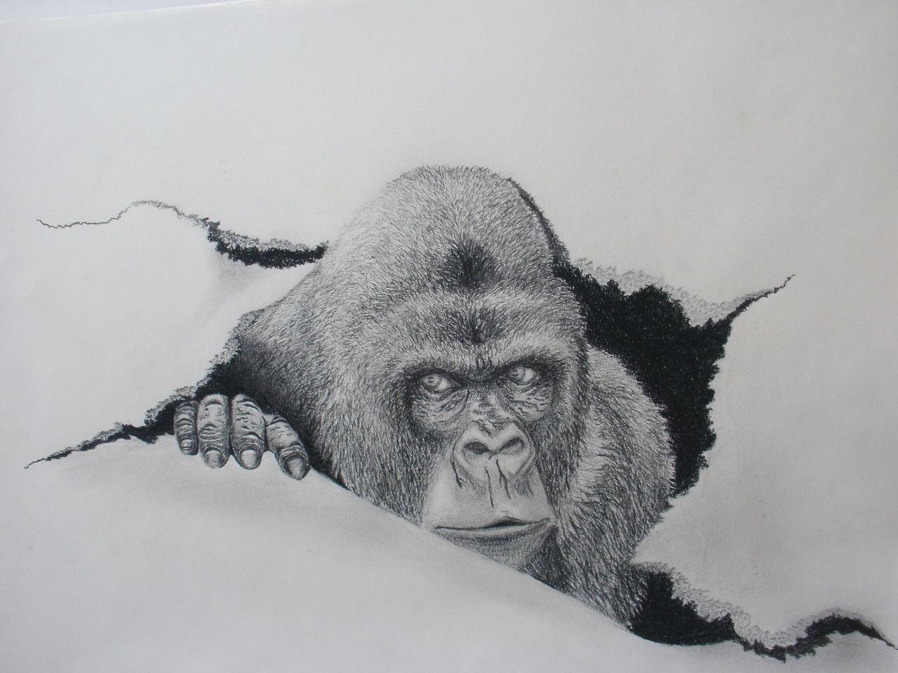 Kunst von erwachsenen Gorilla