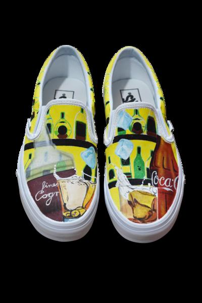 Acrylmalerei, Airbrush, Getränk, Schuhe, Malerei