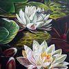 Blumen, Teich, Libelle, Biotop