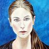 Frauenportrait, Junge frau porträt, Porträt ölmalerei, Malerei