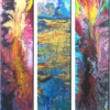 Verlaufen, Triptychon, Flüssig, Malerei