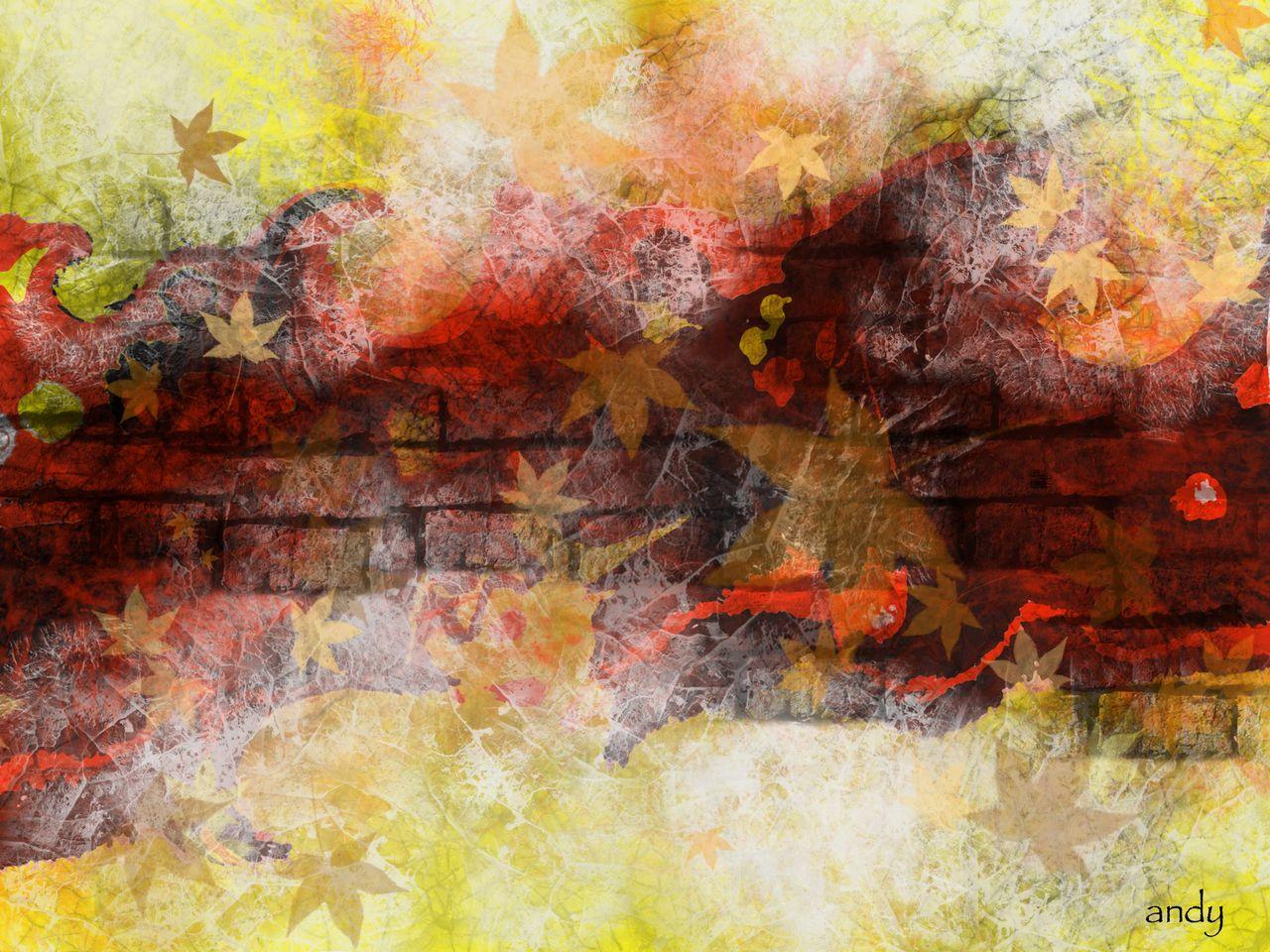 Herbst Atmosphare Abstrakte Kunst Natur Modern Abstrakt Von Andy46 Bei Kunstnet