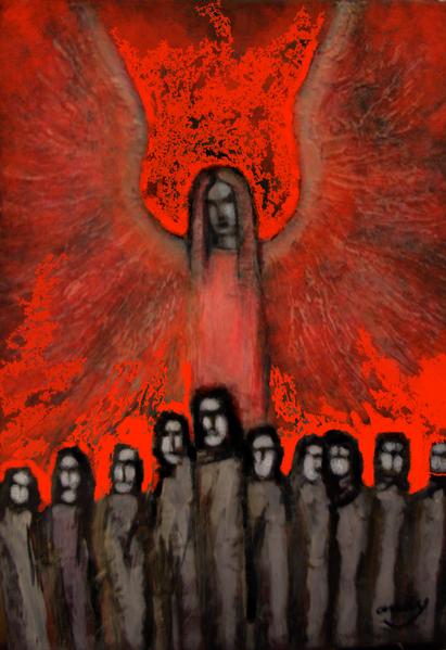 Weltuntergang, Digitale kunst modern, Digital, Digitale kunst, Menschen, 2012