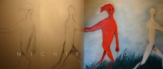 Absurd, Außenseiter, 2013, Malerei mischtechnik, Surreal, Nichtfertiges