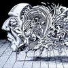 Zeichnung, Surreal, Blackwork, Tusche