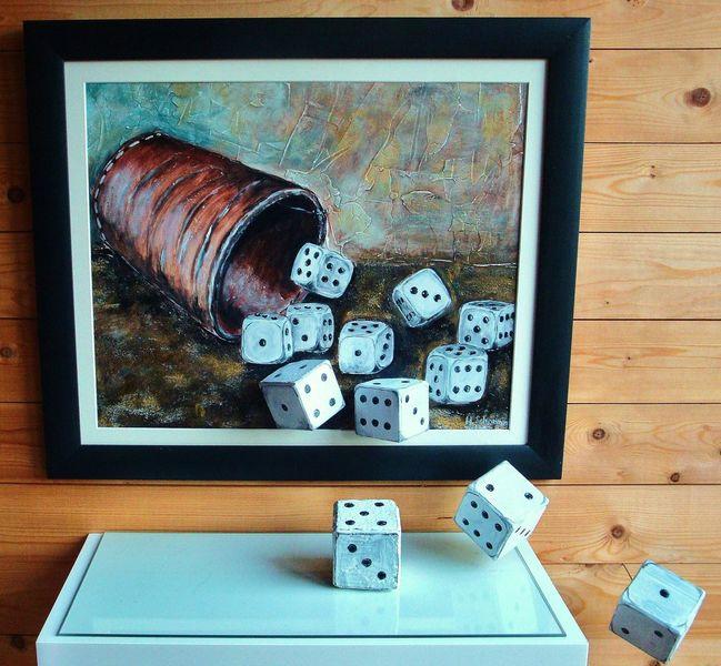 Würfel, Spiel, Illusion, Regel, Malerei