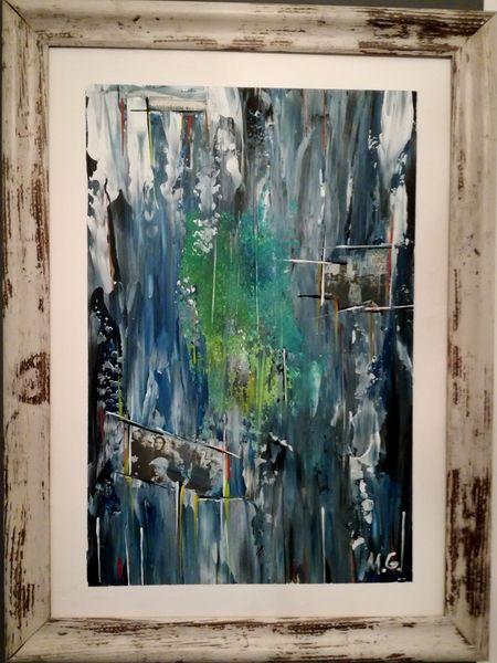 Krieg, Acrylmalerei, Abstrakt, Österreich, Mischtechnik,