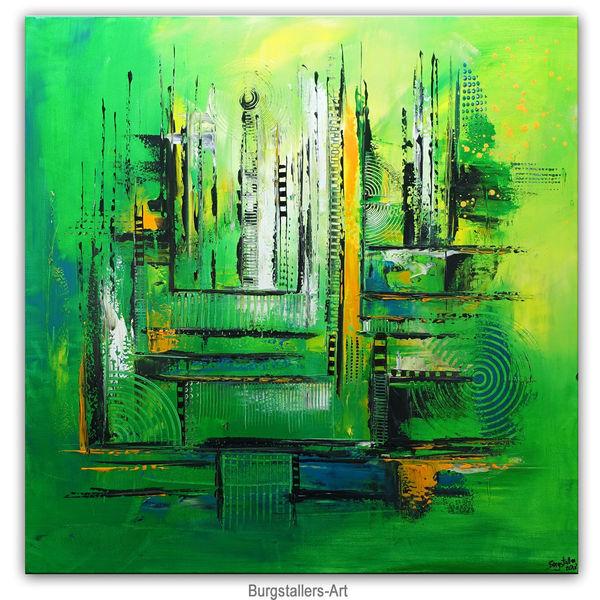 Abstrakte kunst, Acrylmalerei, Gemälde original, Grün, Gemälde, Malen